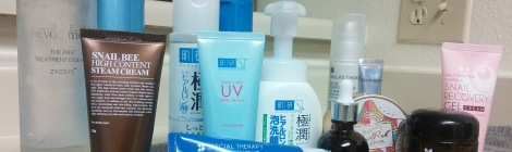 Hyaluronic acid-containing Japanese and Korean skin care products