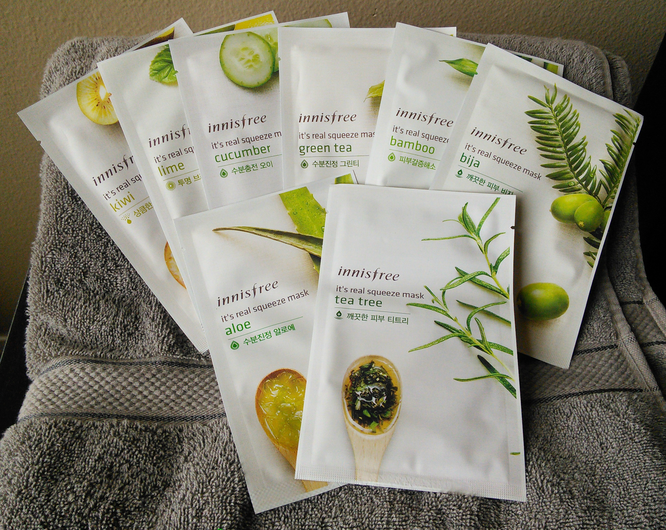 Innisfree Sheet Mask Haul And Review Preview Fifty Shades Of Snail Real Squeeze Strawberry Its Masks