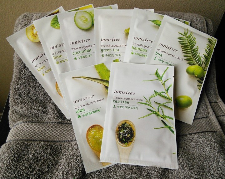 Innisfree It's Real Squeeze Masks