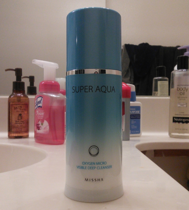 Review: Missha Super Aqua Oxygen Micro Visible Deep Cleanser