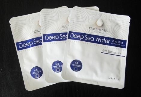 Missha Deep Sea Water Real Essential sheet masks
