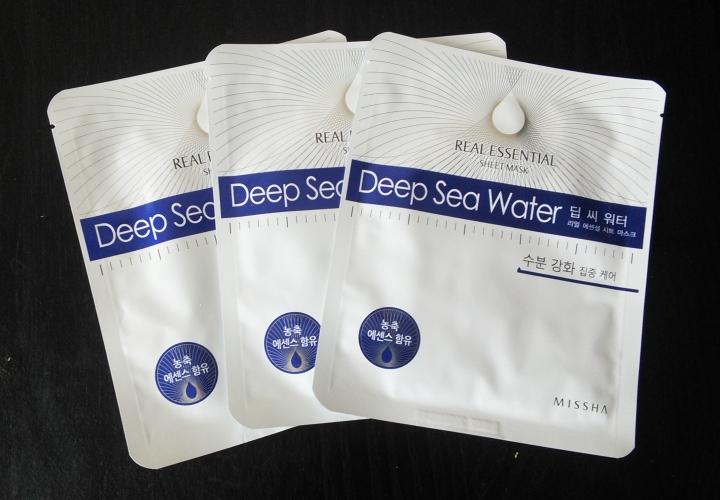 Missha Deep Sea Water Real Essential sheet masks