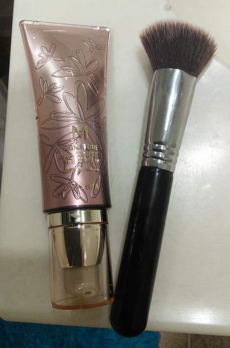 Missha M Signature Real Complete BB Cream and Sigma F80 foundation brush