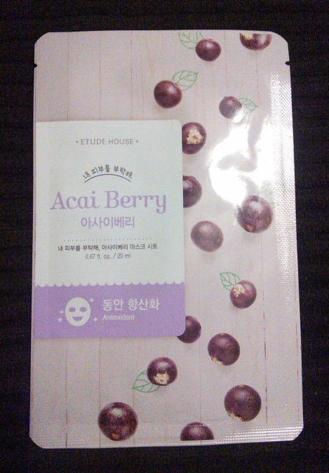 Etude House Acai Berry I Need You sheet mask