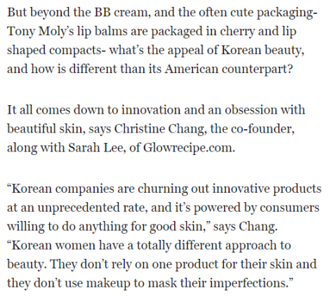Fortune.com feature on Korean beauty