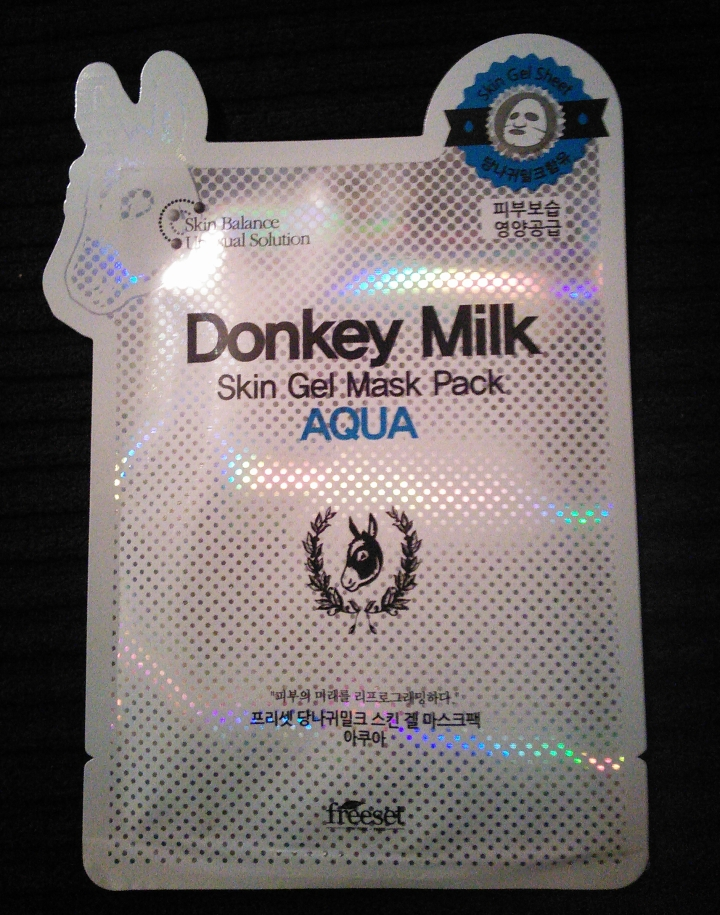 Freeset Donkey Milk Skin Gel Mask Pack Aqua package