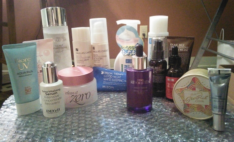 Mainly Korean skin care routine.