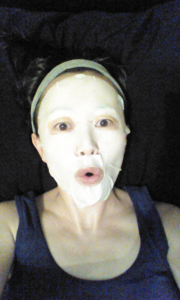 Wearing Innisfree It's Real Squeeze Mask in Black Berry