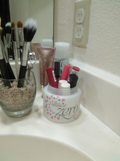Repurposed Banila Clean It Zero jumbo container
