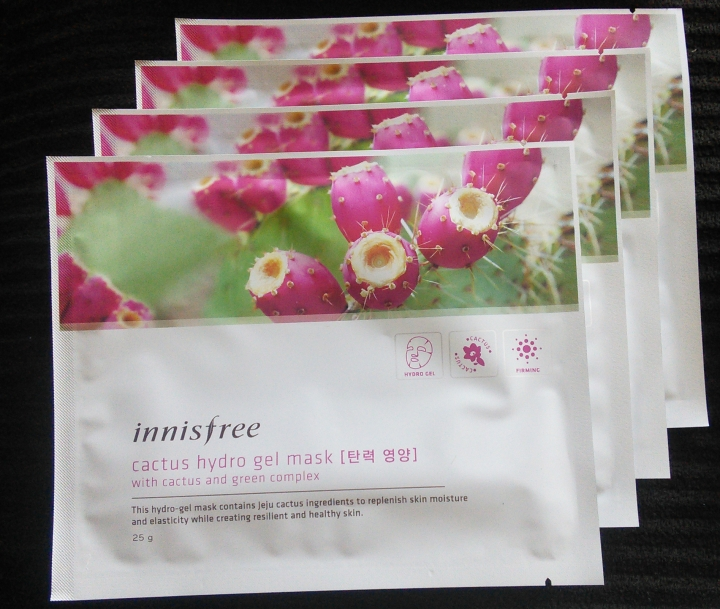 Innisfree Cactus hydrogel masks