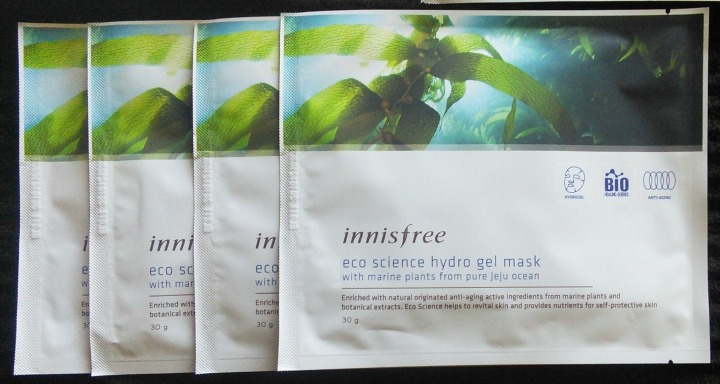 Innisfree hydrogel masks in Eco Science