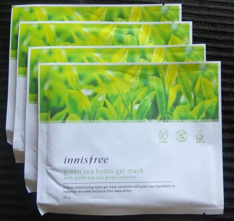 Innisfree Green Tea Hydrogel Masks