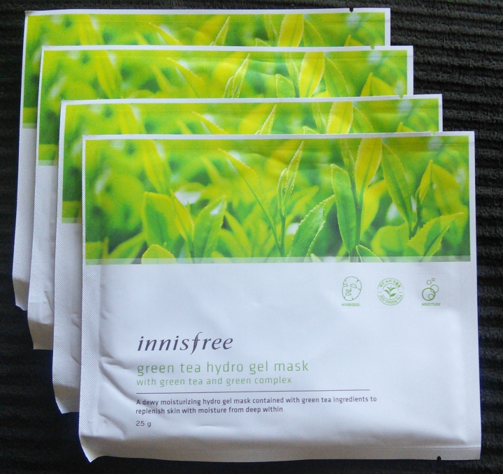 Innisfree Green Tea Hydrogel Masks
