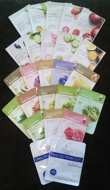 Korean sheet mask collection