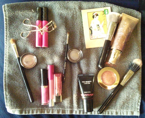 Makeup and makeup tools for a younger appearance