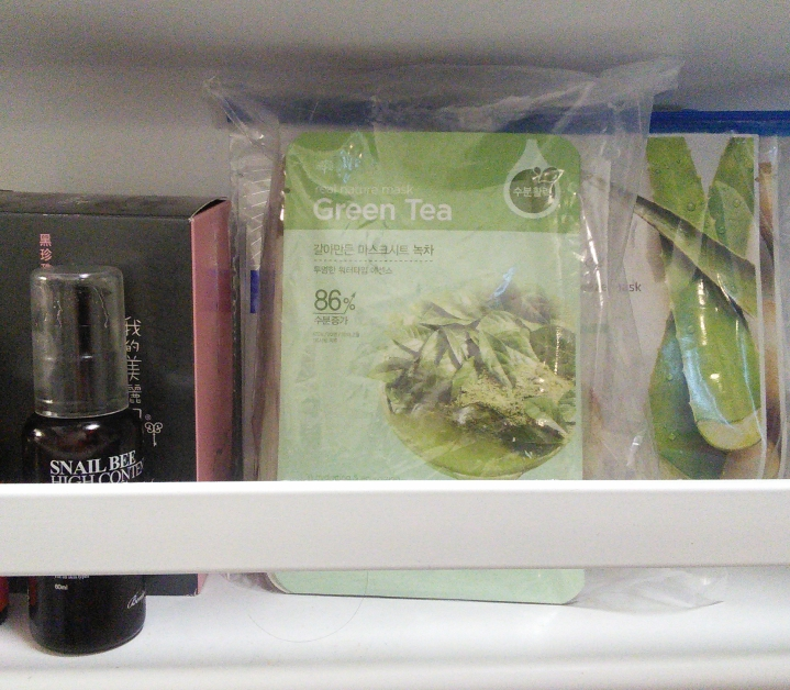 Keeping sheet masks in the fridge