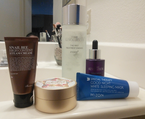 Niacinamide-containing Korean skin care products