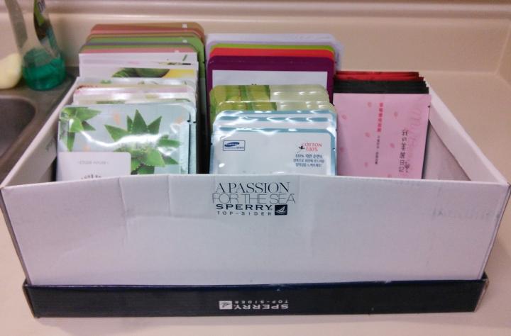 Box of sheet masks