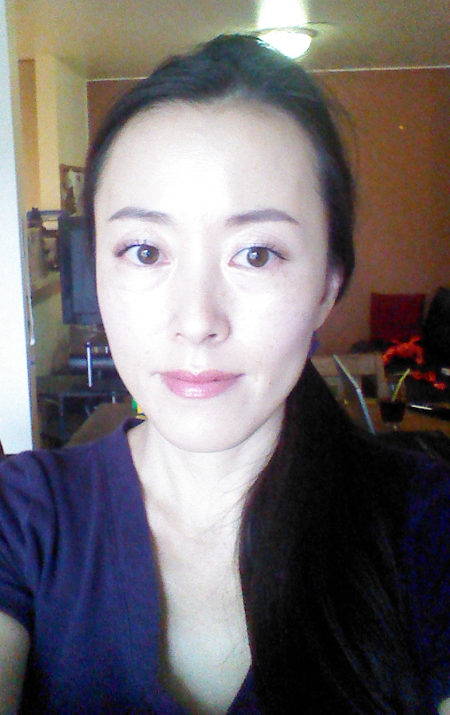 Lavender FOTD with Korean makeup products