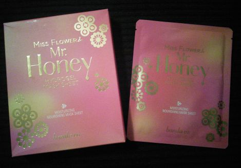 Banila Co Miss Flower & Mr Honey Hydrogel Mask packaging