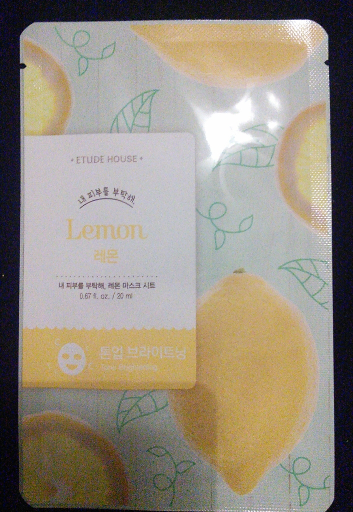 Etude House lemon sheet mask