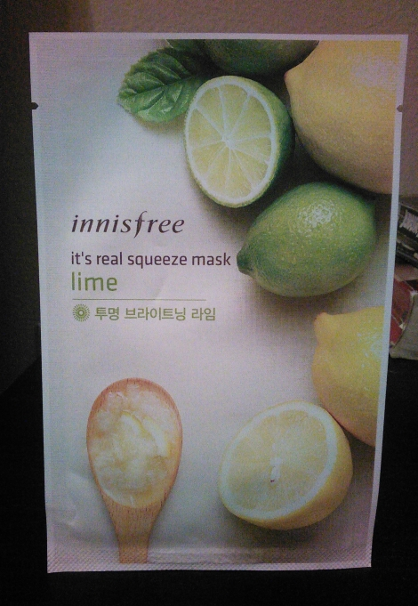 Innisfree lime sheet mask