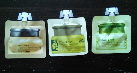 Other Innisfree cream samples
