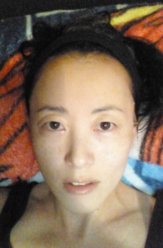 My Beauty Diary Platinum Mandelic Acid Brightening Mask worn on face