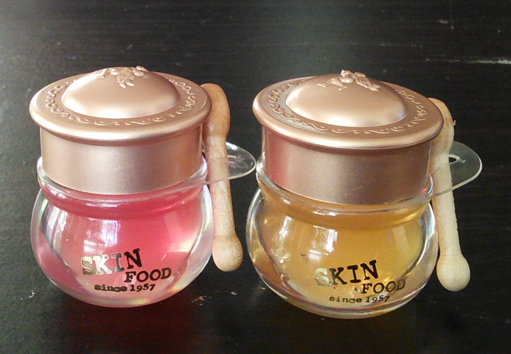 Skinfood Honey Pot lip balms