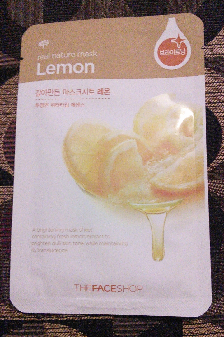 The Face Shop Real Nature mask in Lemon