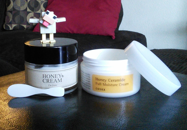 I'm From Honey Cream and COSRX Honey Ceramide Full Moisture Cream