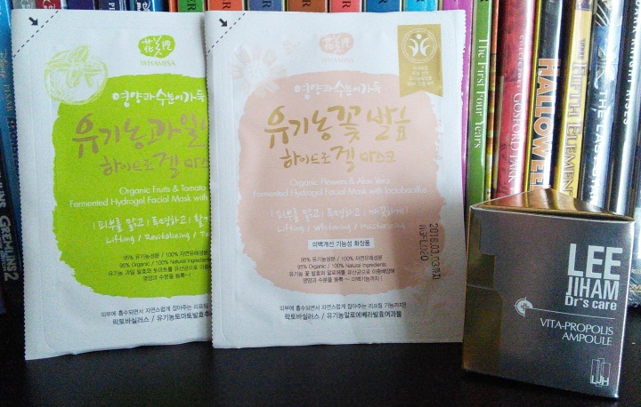 Whamisa hydrogels and LJH Vita Propolis Ampoule