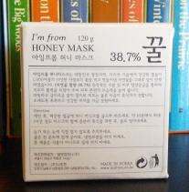 Korean instructions for I'm From Honey Mask