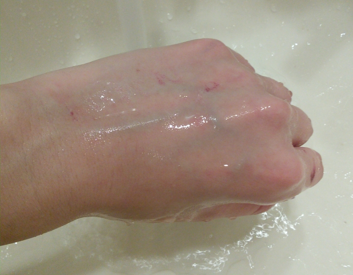 Results of cleansing with Mizon Snail Cushion Foam Cleanser
