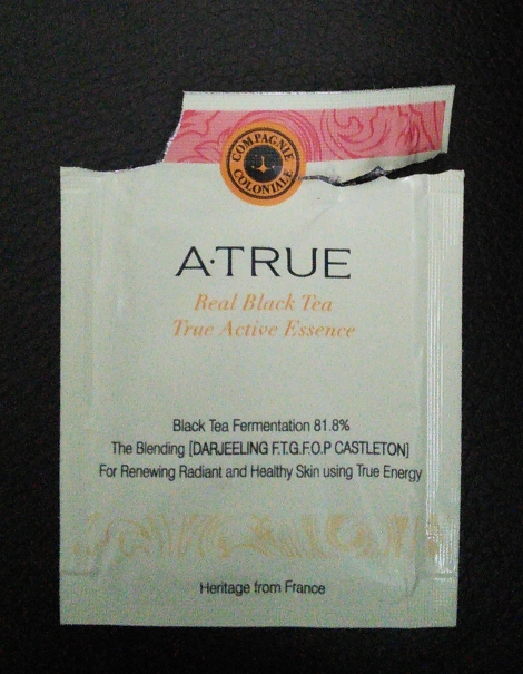 A.True Real Black Tea True Active Essence sample
