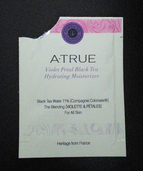 Sample of A.True Violet Petal Black Tea Hydrating Moisturizer