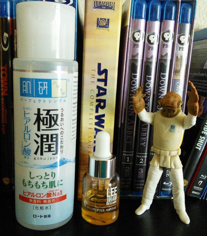 Hada Labo Gokujyun lotion and LJH Vita Propolis Ampoule