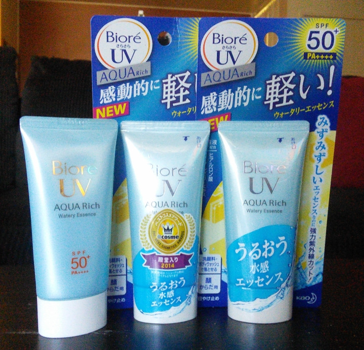 Biore UV Aqua Rich Watery Essence 2015 sunscreen