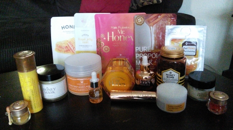 Korean honey-based skincare products