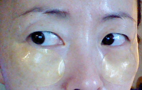 Berrisom Placenta Firming Hydro Gel Eye Patches on face