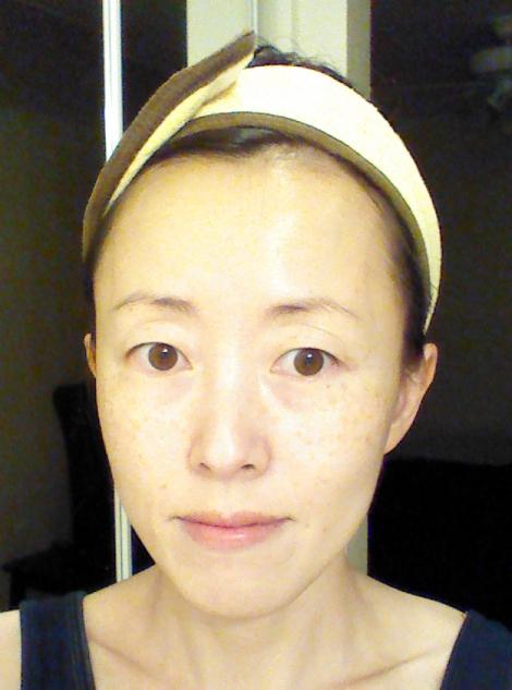 After picture for Lindsay Lavender Modeling Mask