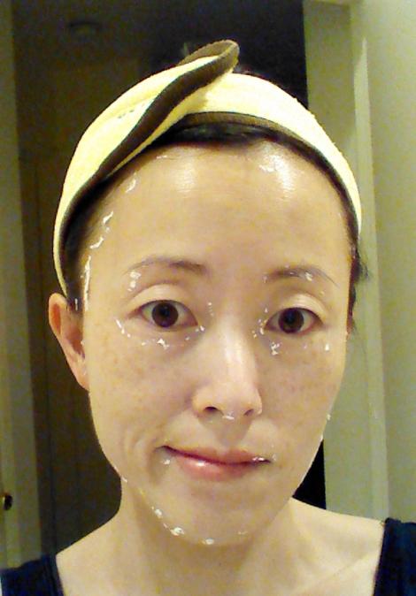 After removal of Lindsay Lavender Modeling Mask