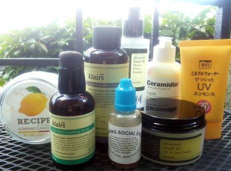 Morning Korean beauty skincare routine