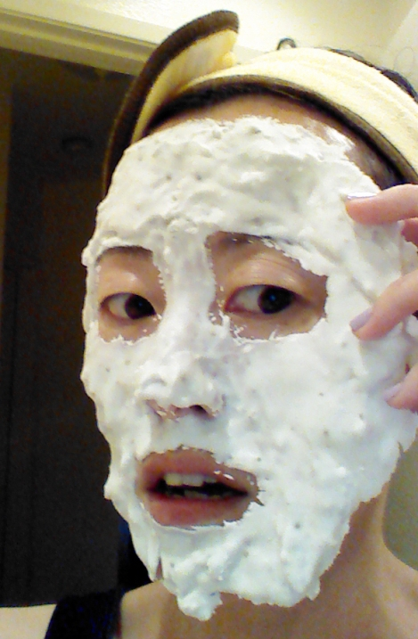 Peeling off Lindsay Lavender Modeling Mask
