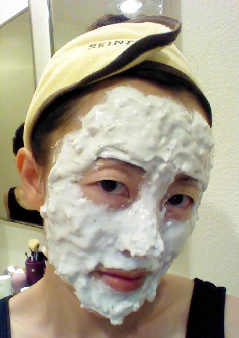 Wearing Lindsey Lavender Modeling Mask
