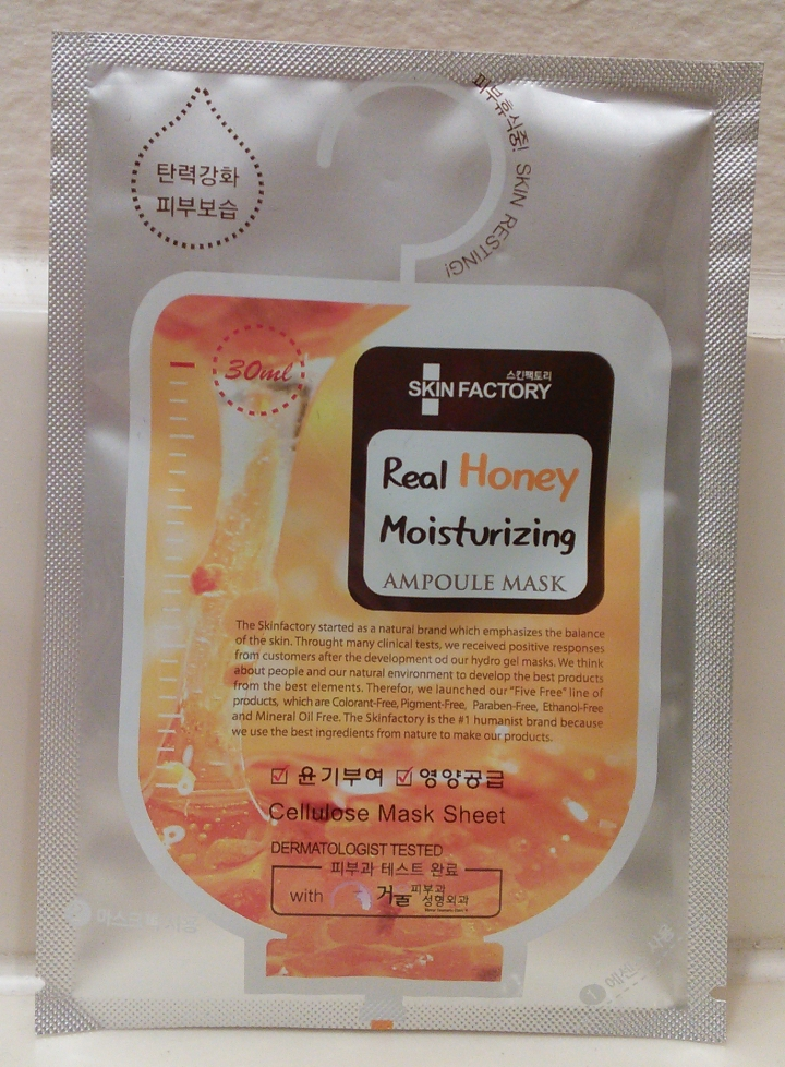 Skin Factory Real Honey Moisturizing Ampoule Mask packaging