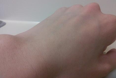 Skin after using Mizon Honey Black Sugar Scrub