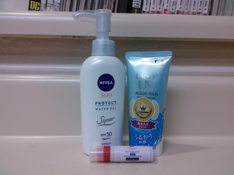 Japanese face and body sunscreens