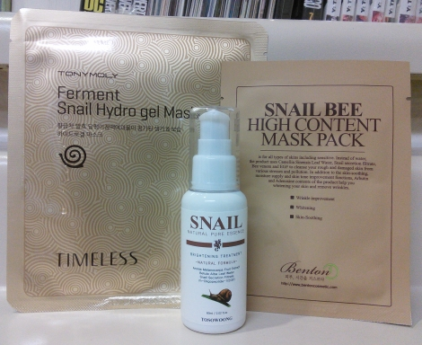Snail essence and masks