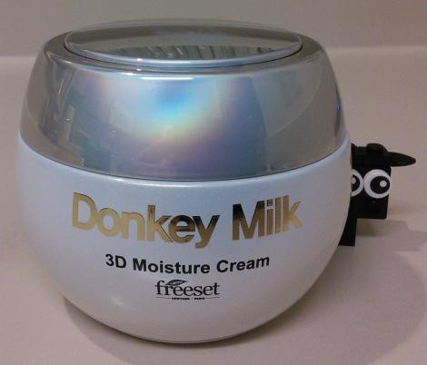 Jar of Freeset donkey milk cream